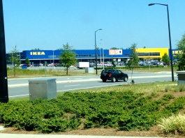 My first sighting of IKEA!