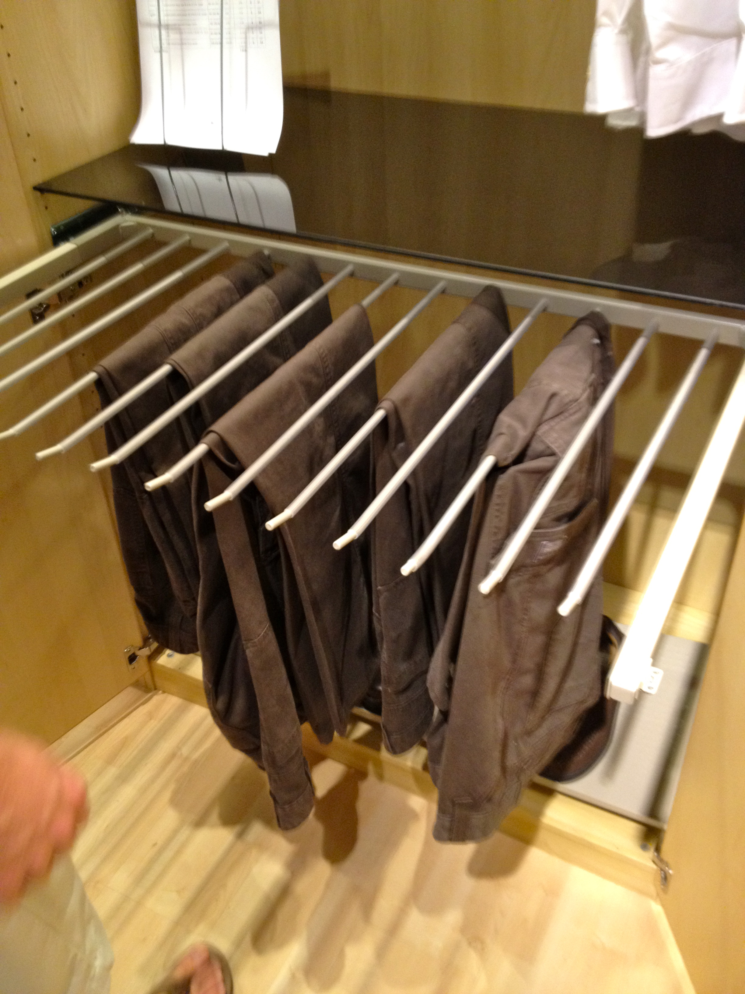i pants double organized space hangers rack mbr saving and saver became you too closet dreams with organizing really might snob appealing ideas swinging bedroom hanger how closets a