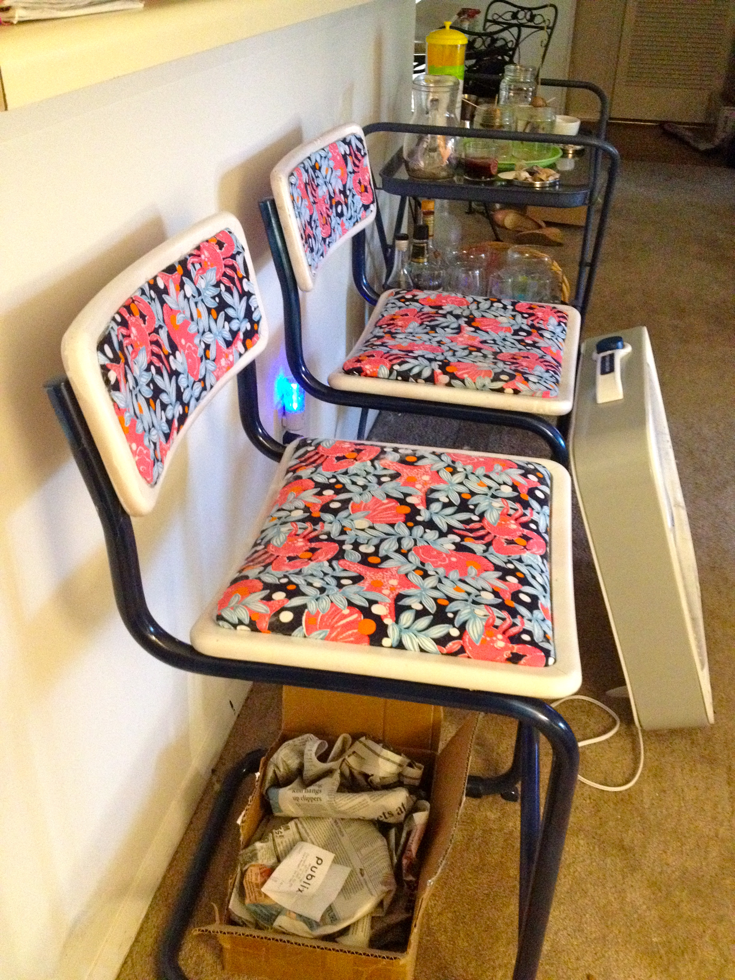 Lilly Pulitzer Inspired Bar Stools Charlestoncrafted