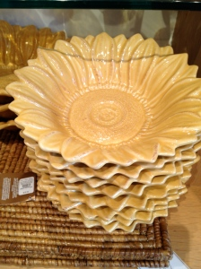 Sunflower Bowls - Pottery Barn - Charleston Crafted