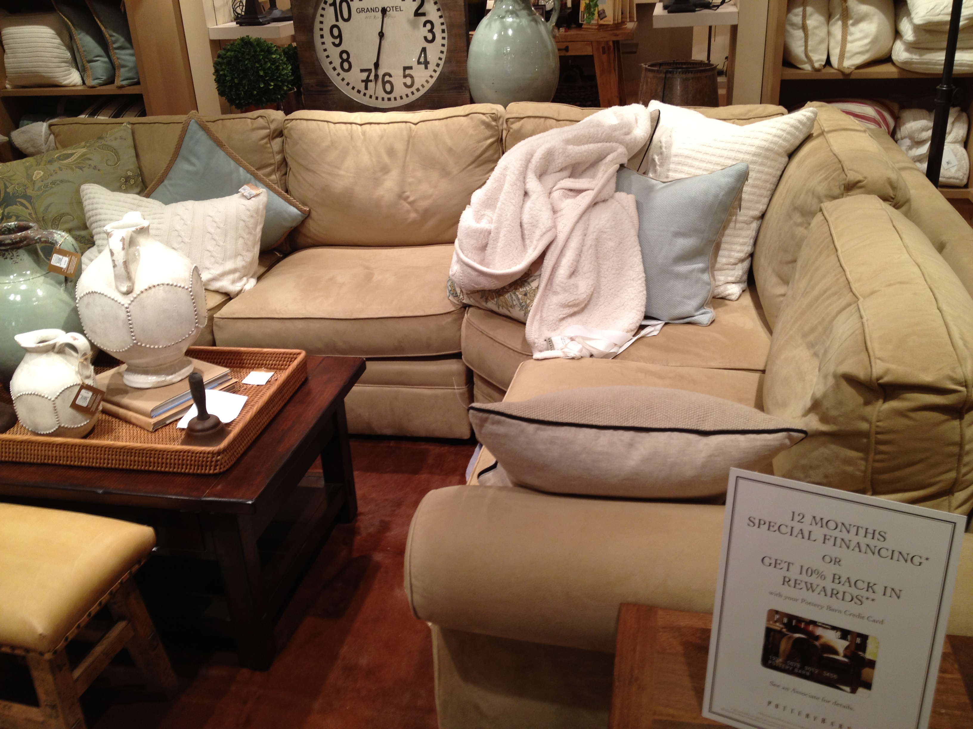 Window shopping charlestoncrafted for Small sectional sofa pottery barn