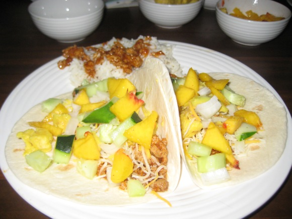 Turkey Peach Tacos - Charleston Crafted