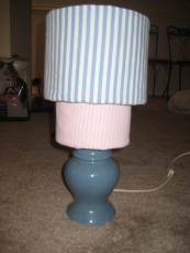 Pin Stripe Lamp