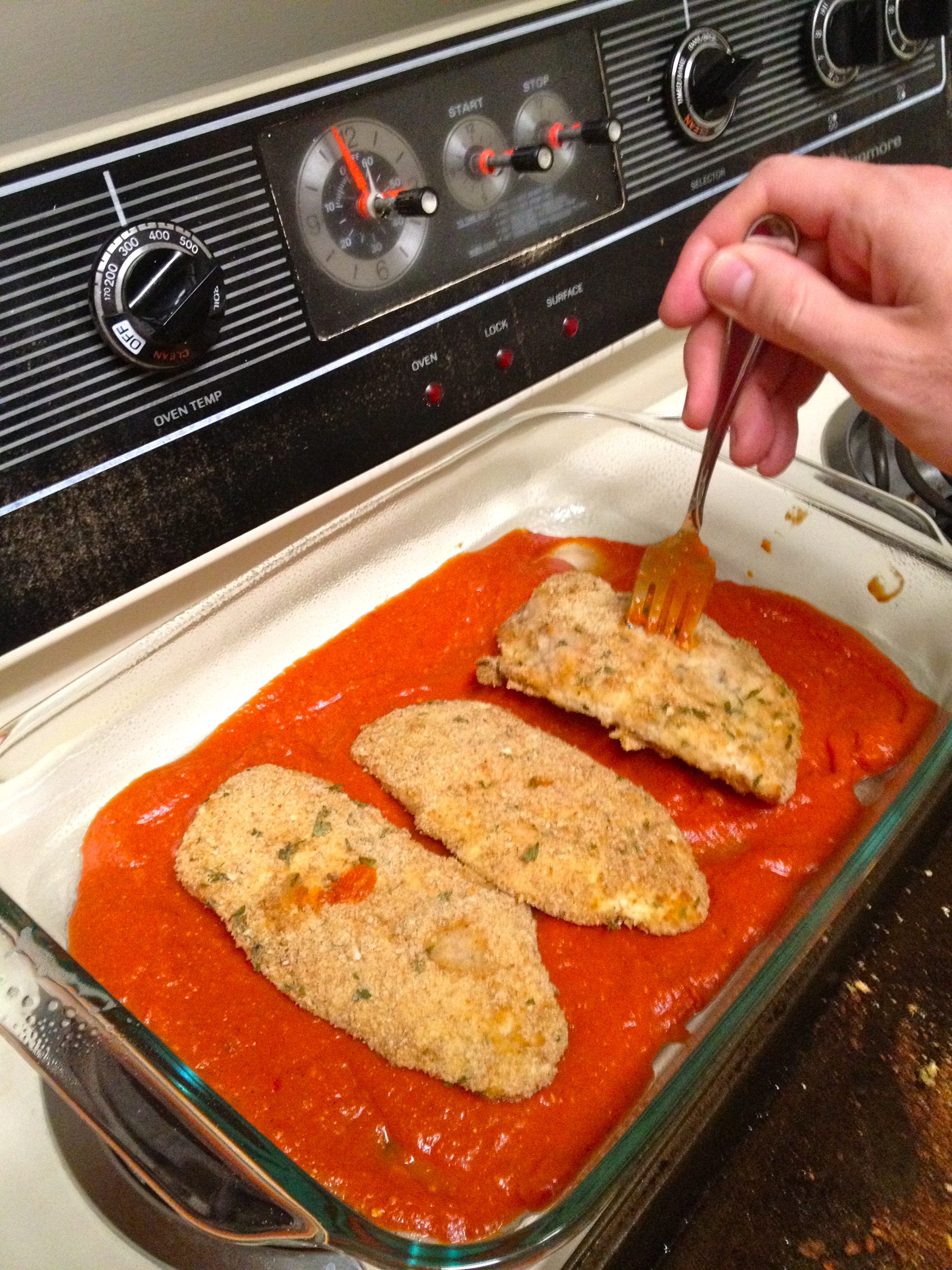 Baking Chicken Parm - Charleston Crafted