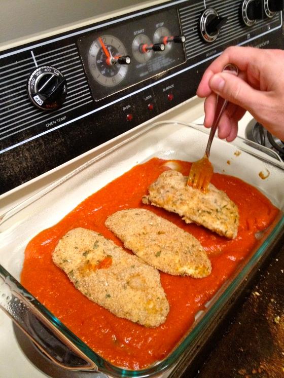 Baking Chicken Parm - Charleston Crafted