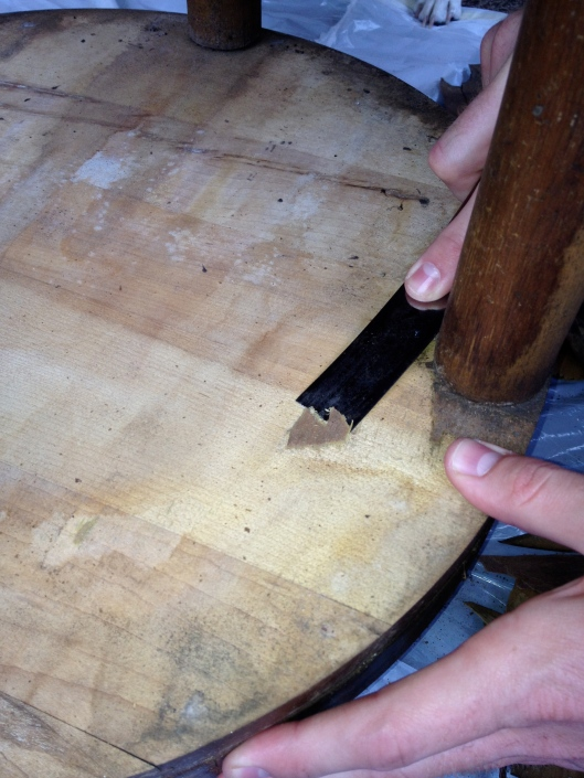 Scraping Wood - Charleston Crafted