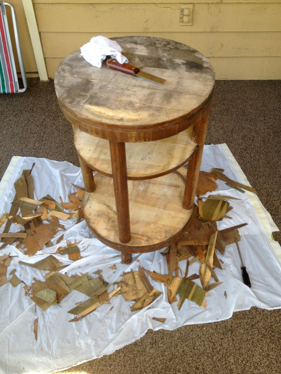 Side Table Before - Charleston Crafted