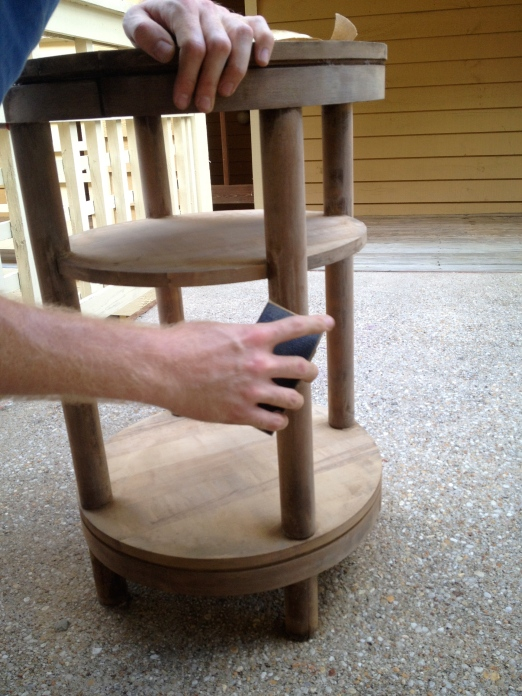 Sanding a Table - Charleston Crafted