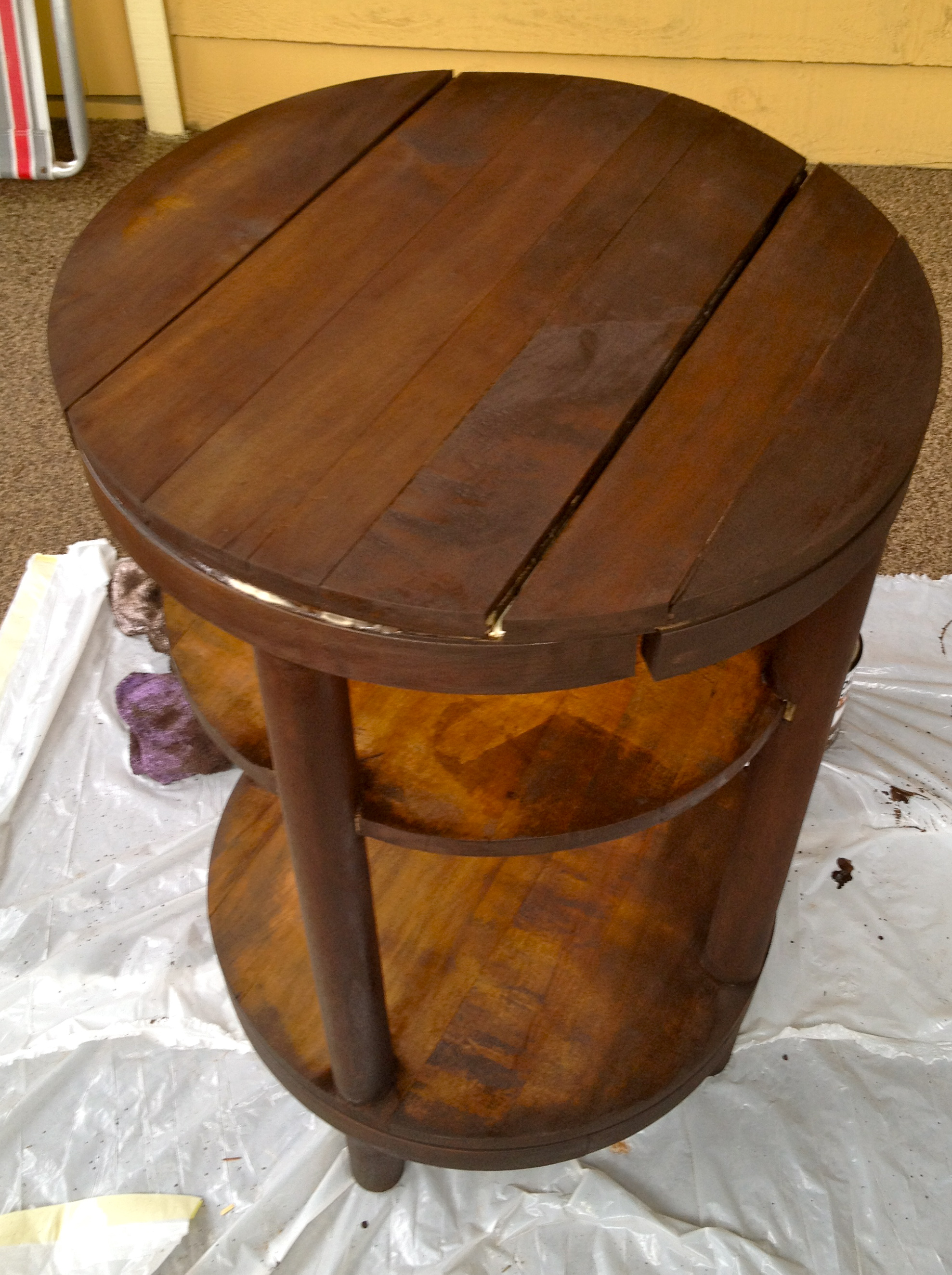 Staining a Table - Charleston Crafted