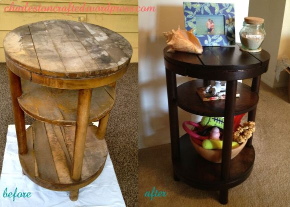 Side Table Before and After - Charleston Crafted