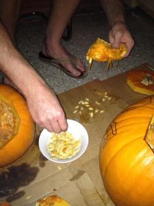 Picking Pumpkin Seeds - Charleston Crafted