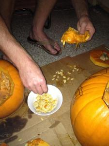 Picking Pumpkin Seeds - Charleston Crafted