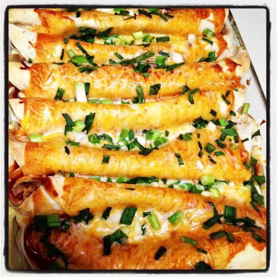 Final Cooked Chicken Enchiladas - Charleston Crafted
