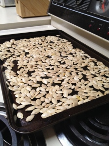 Drying Pumpkin Seeds - Charleston Crafted