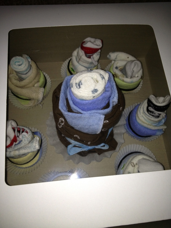 Baby Shower Onesie Cupcakes - Charleston Crafted