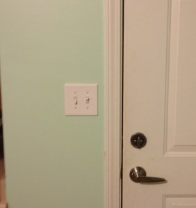 Light Switch Before - Charleston Crafted