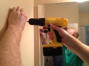Installing a Towel Ring- Charleston CraftedIMG_2684