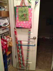 Over the Door Wrapping Paper Storage Charleston Crafted