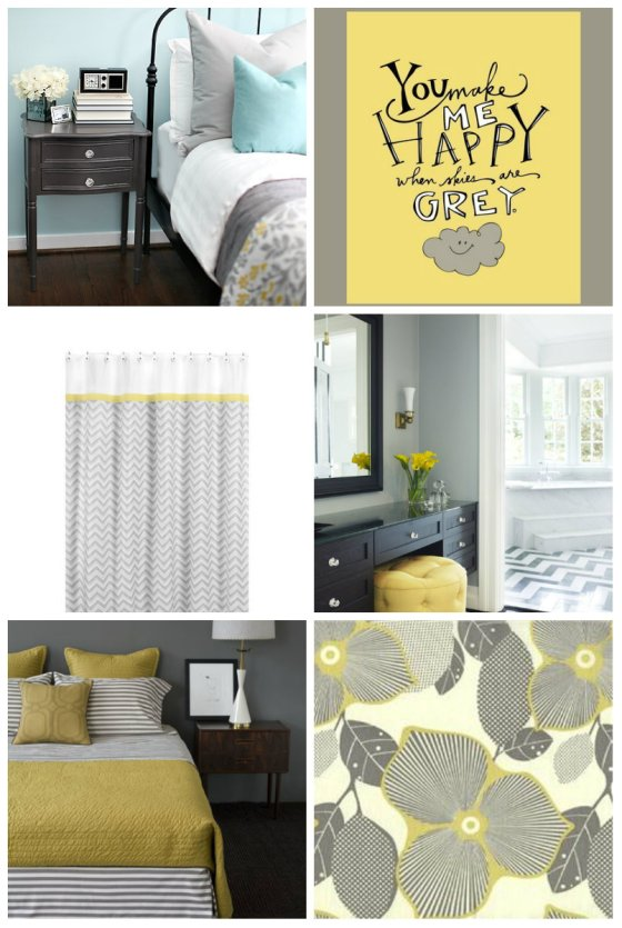 grey and yellow room
