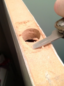 Shaving a door down - Charleston Crafted