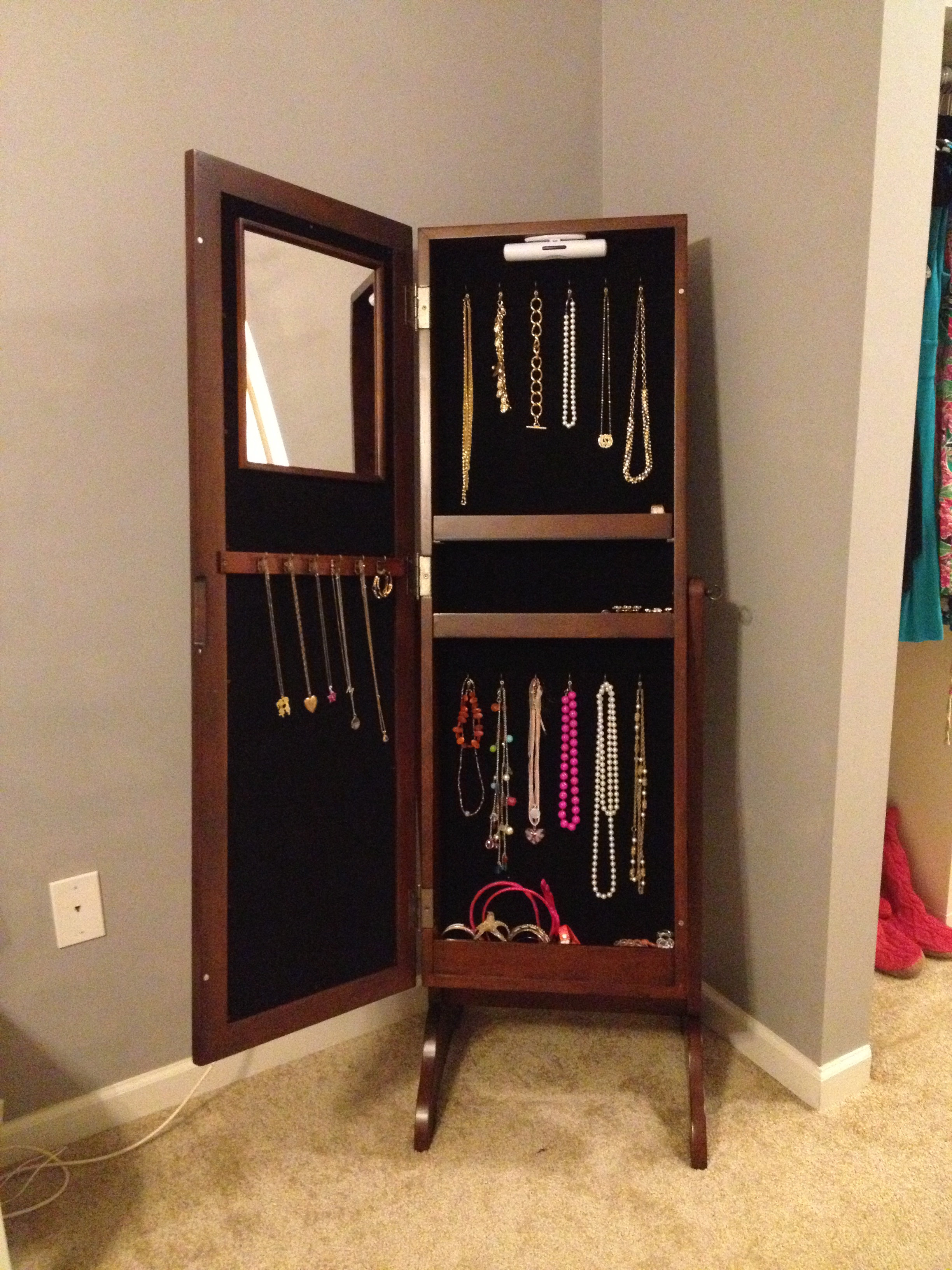 Christmas Gift Update My New Jewelry Armoire
