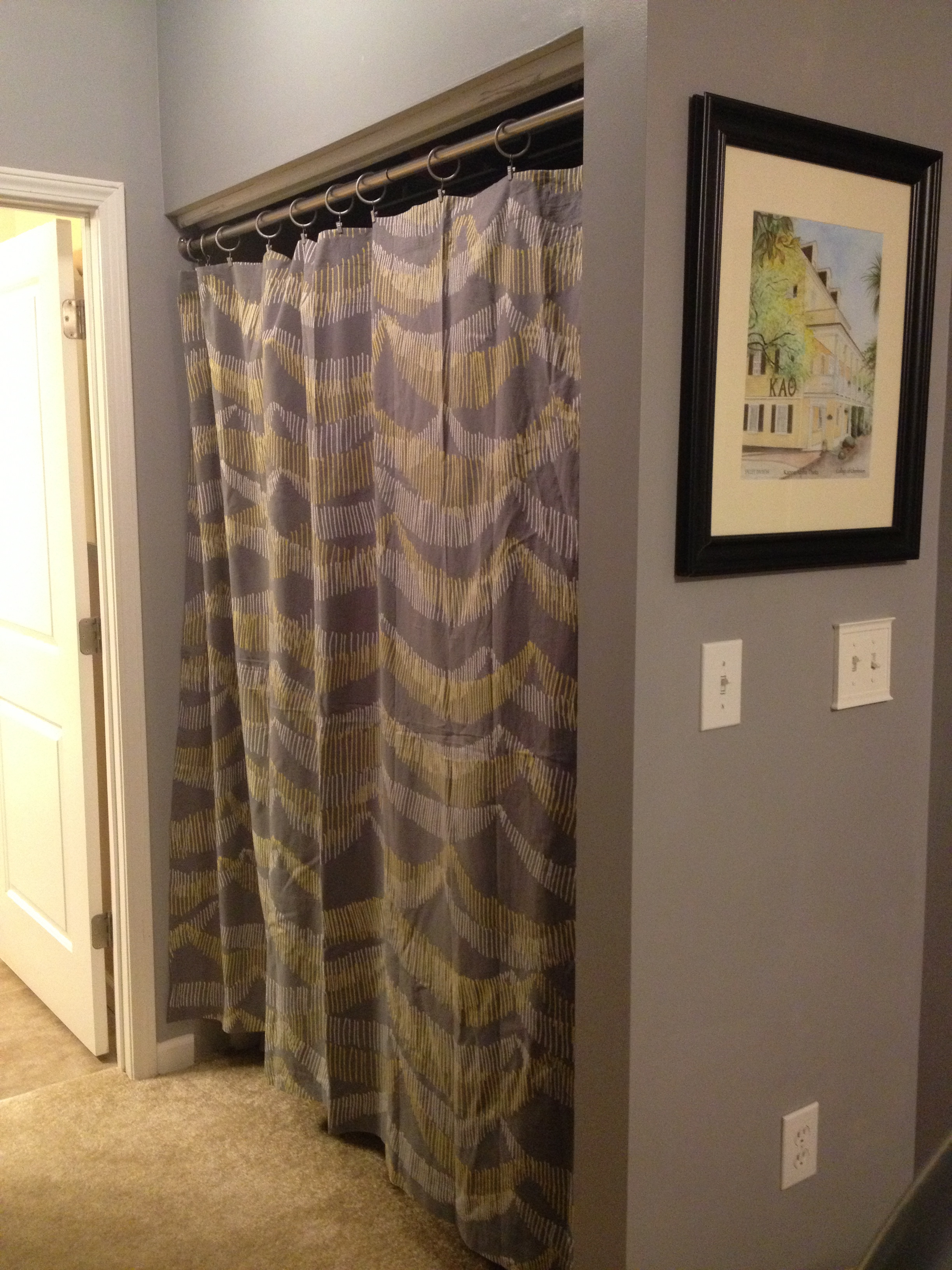 Changing Closet Doors To Curtains Charlestoncrafted