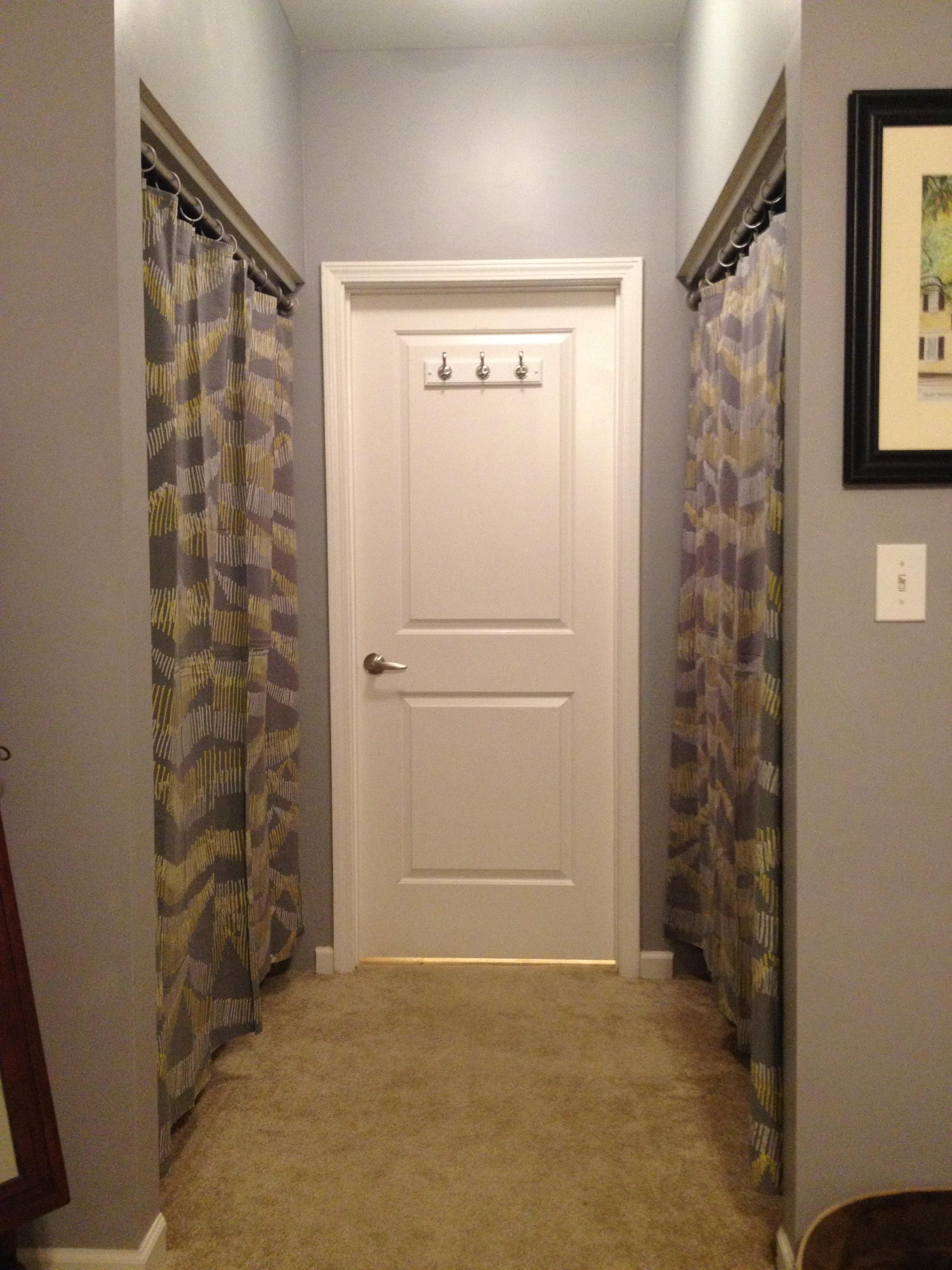Curtains for closet doors - Closet Curtain Charleston Crafted