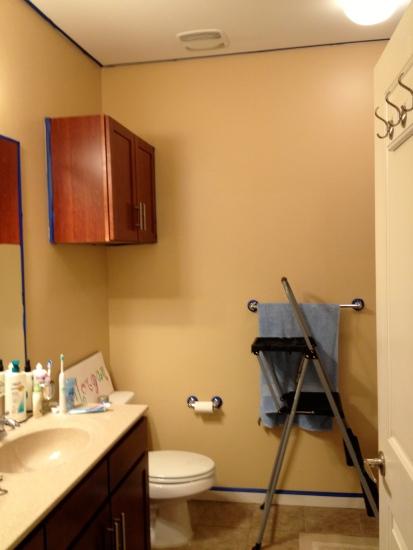 bathroom taped