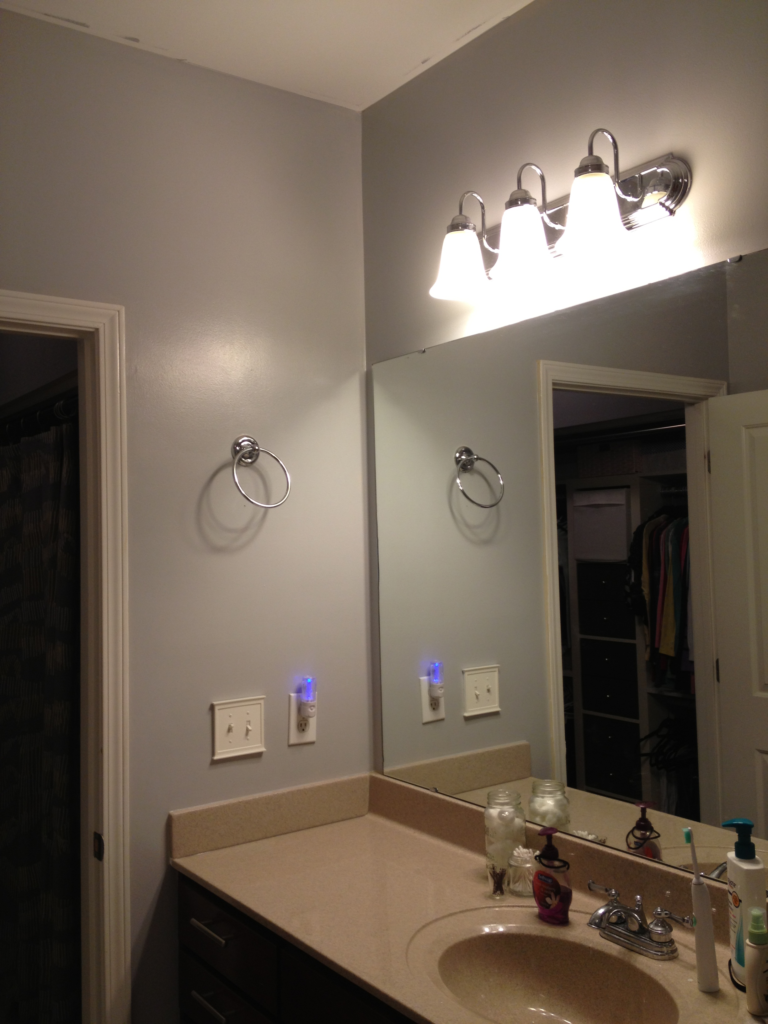 My secret passage a bathroom update charleston crafted Pictures of painted bathrooms