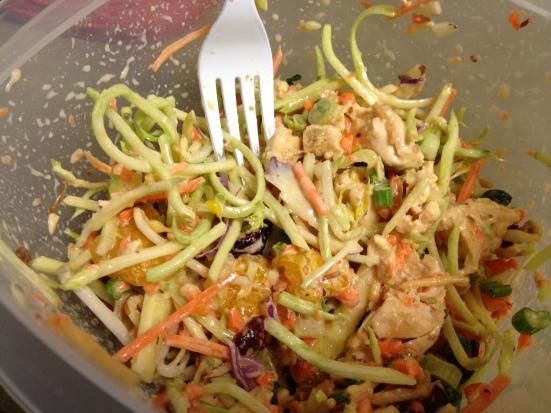 No Lettuce Asian Chicken Salad