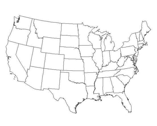 map USA