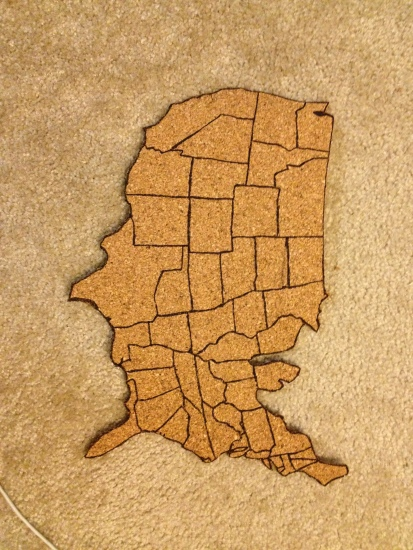 DIY Cork Map- Charleston Crafted