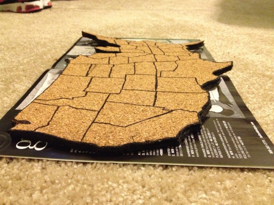 DIY Cork Map- Charleston Crafted