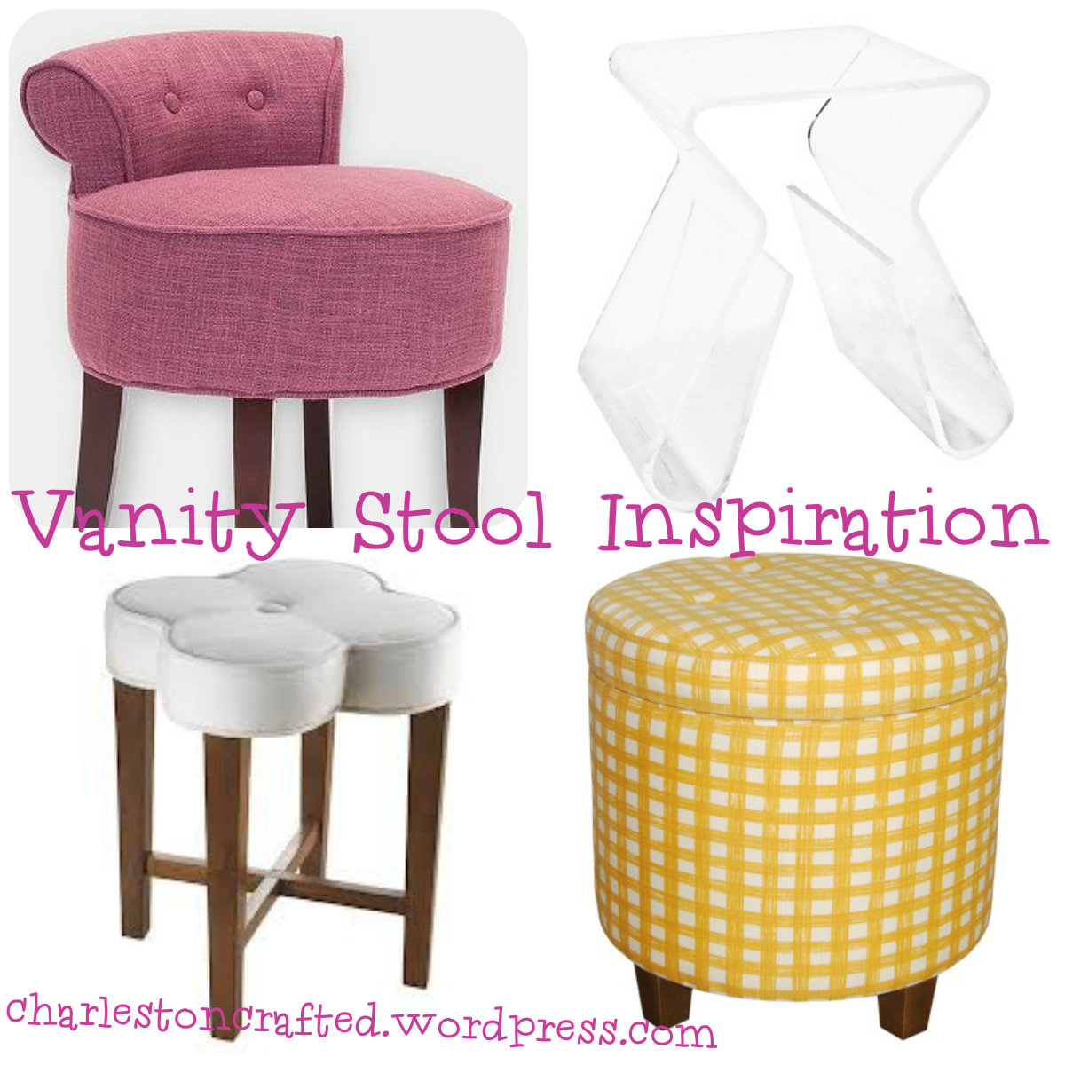 Seeking Inspiration for a new Vanity Stool! • Charleston Crafted