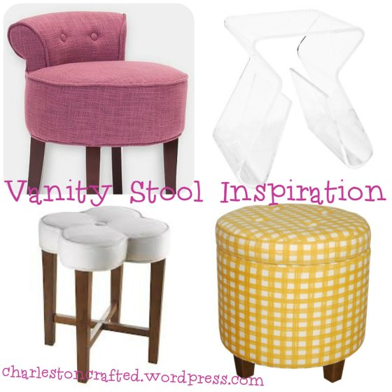 vanity stool collage - charleston crafted